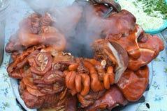 Culinary specialties of Burma. Interior soup culinary specialties of Burma Royalty Free Stock Images
