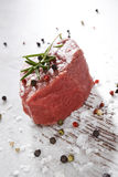 Culinary steak eating. Royalty Free Stock Images