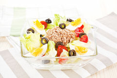 Culinary tuna salad. Royalty Free Stock Image