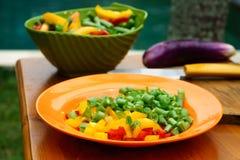 Culinary workshop. Vegetable salad Royalty Free Stock Image
