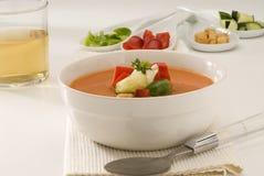 Culinária espanhola. Gazpacho. Sopa fria andaluza. Imagem de Stock Royalty Free