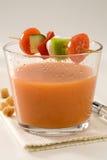 Culinária espanhola. Gazpacho. Sopa fria andaluza. Imagens de Stock