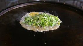 Culinária taiwanesa (omeletas da ostra) Imagem de Stock