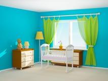 Culla della stanza del bambino Fotografia Stock Libera da Diritti
