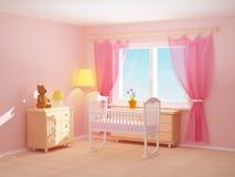 Culla della stanza del bambino Fotografia Stock