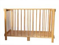 Culla di legno piegante Fotografia Stock Libera da Diritti