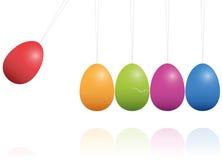 Culla di Newton delle uova di Pasqua Fotografia Stock Libera da Diritti