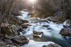 Cullasaja River Blue Ridge Western North Carolina Stock Image