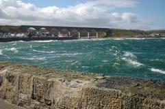 Cullen Bay och viadukt Arkivbild