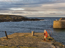 Cullen Harbour entrance on a winters day. Royalty Free Stock Photography