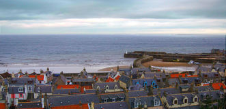 Cullen Harbour Moray Arkivbild