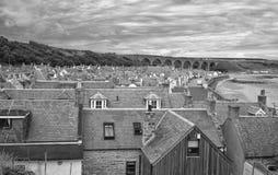 Cullen Railway Viaduct Scotland Royaltyfria Foton