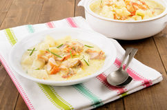 Cullen skink, typical scottish food with smoked haddock Stock Photos