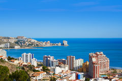 Cullera beach aerial with skyline of village Valencia Stock Photo
