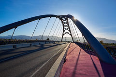 Cullera bridge over Xuquer Jucar river of Valencia Stock Images