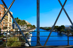 Cullera bridge over Xuquer Jucar river of Valencia Stock Image
