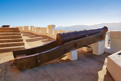Cullera cannon in Torre de la Reina Mora tower Royalty Free Stock Image