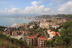 Cullera city coastline Royalty Free Stock Image