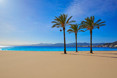 Cullera Playa los Olivos beach Valencia at Spain Royalty Free Stock Image