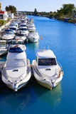 Cullera port marina in Xuquer Jucar river Valencia Stock Photo