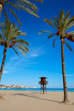 Cullera Sant Antoni beach San Antonio in Valencia Royalty Free Stock Images