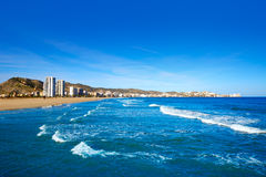 Cullera Sant Antoni beach San Antonio in Valencia Stock Photo