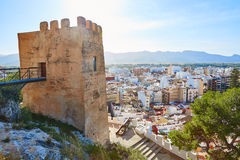 Cullera Torre de la Reina Mora tower in Valencia Stock Images