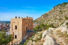 Cullera Torre De Los angeles Reina Mora wierza w Walencja zdjęcie stock