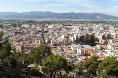 Cullera. Valencia. Aerial view of the town of Cullera. Valencia Stock Images