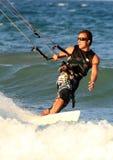 Cullera Valencia van de branding van de Vlieger van Surfer provincie Spanje Royalty-vrije Stock Afbeeldingen