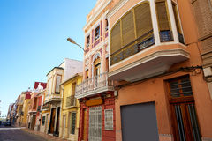 Cullera village streets in Mediterranean Valencia Royalty Free Stock Images