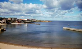 Cullercoates zatoka Northumberland Zdjęcia Royalty Free