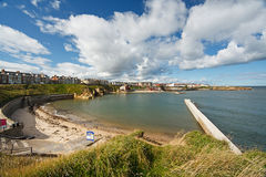 Cullercoats bay north east England Royalty Free Stock Photo