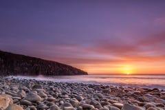 Cullernose punkt på soluppgång Arkivfoton
