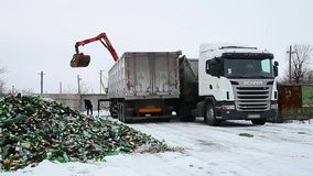 Cullet recycling. stock video footage