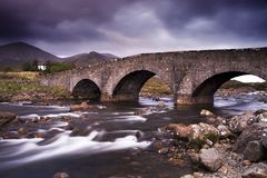 The Cullin hills and river Royalty Free Stock Images