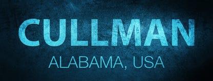 Cullman l'alabama Fond bleu spécial de bannière des Etats-Unis illustration stock