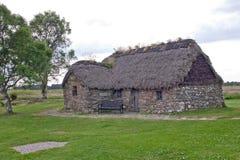 Culloden, старый коттедж Leanach Стоковая Фотография RF