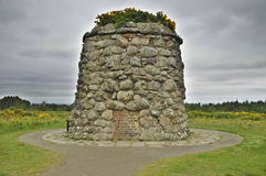 Culloden battle field memorial monument. The Battle of Culloden was the final confrontation of the 1745 Jacobite Rising.The conflict was the last pitched Stock Image