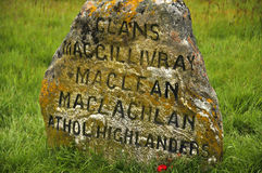 Culloden battle field memorial monument. The Battle of Culloden was the final confrontation of the 1745 Jacobite Rising.The conflict was the last pitched Stock Photos