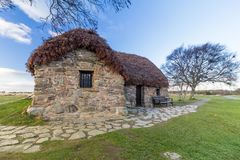 Culloden Battlefield cottage stock photography