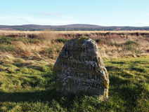 Culloden Battlefield headstone Royalty Free Stock Photos