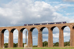 CULLODEN, INVERNESS/SCOTLAND - AUGUST 28 : Train passing over Cu royalty free stock photos