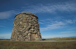 Culloden Moor Battlefield Cairn Royalty Free Stock Images