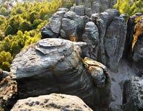 Culmini della roccia che scalano il parco naturale Fotografie Stock Libere da Diritti
