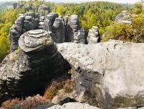 Culmini della roccia che scalano il parco naturale Fotografia Stock