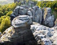 Culmini della roccia che scalano il parco naturale Fotografia Stock Libera da Diritti