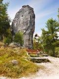 Culmini della roccia, paradiso rampicante Immagini Stock Libere da Diritti
