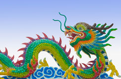 Culorful of chinese dragon Royalty Free Stock Photography