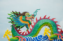 Culorful of chinese dragon Royalty Free Stock Photo